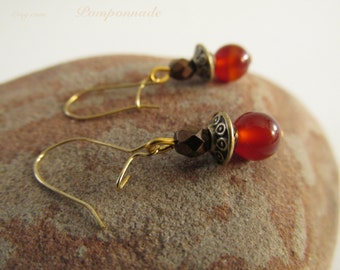 2742 - Earrings Carnelian