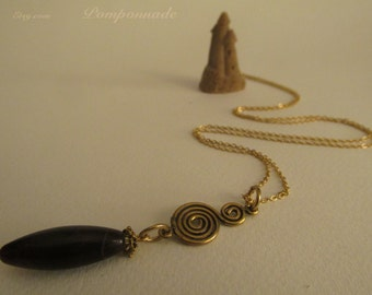 2466 - Amethyst Pendant, Spiral