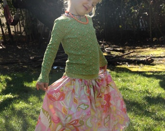 Maxi Long Cotton Girl Skirt