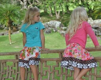 BOGO Suchi Pink Hula Girls Luau Twirly Skirt from Happy Honu Maui made in Hawaii with Aloha