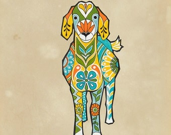 Goat Illustration Print