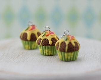 Citrus Cupcake Charm