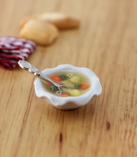 Healthy Vegetable Soup - 1:12 Dollhouse Miniature Food