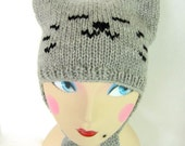 Women Wool Whimiscal Cat Hat - Baby and Me Cat Hat