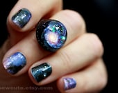 Galaxy ring, Hubble NGC 1309 spiral galaxy Stardust Ring Modern Resin Space Exploration Jewelry Out of this World Fashion Statement