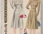 Vintage Sewing Pattern 1940's Misses Two-Piece Suit and Gilet 34 Bust Simplicity 3427