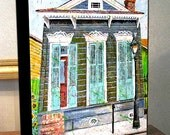"New Orleans French Quarter House Art Canvas Print On 8x10x1.5"" Gallery Wrap"