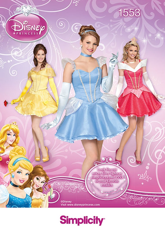Sexy Disney Princess Costume Patterns Simplicity 1553 Size Hh