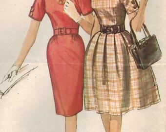 1960s Simplicity 5023 UNCUT Vintage Sewing Pattern Misses Dress Size 16 Bust 36