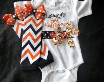 First Halloween Bodysuit with Leg Warmers - Short or Long Sleeves