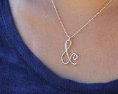 Ampersand Necklace in Sterling Silver – '&' Necklace