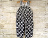 Overall in Pirate Skulls and Crossbones - NEW for Fall - OverallBaby