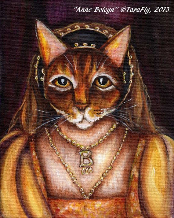 Anne Boleyn Cat 8x10 Fine Art Print