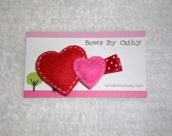 Heart Hair Clip - Valentine's Day Hair Clip