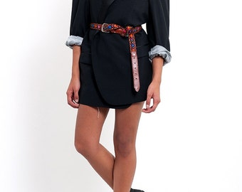 The Vintage Satin Lined Black Tuxedo Blazer Jacket