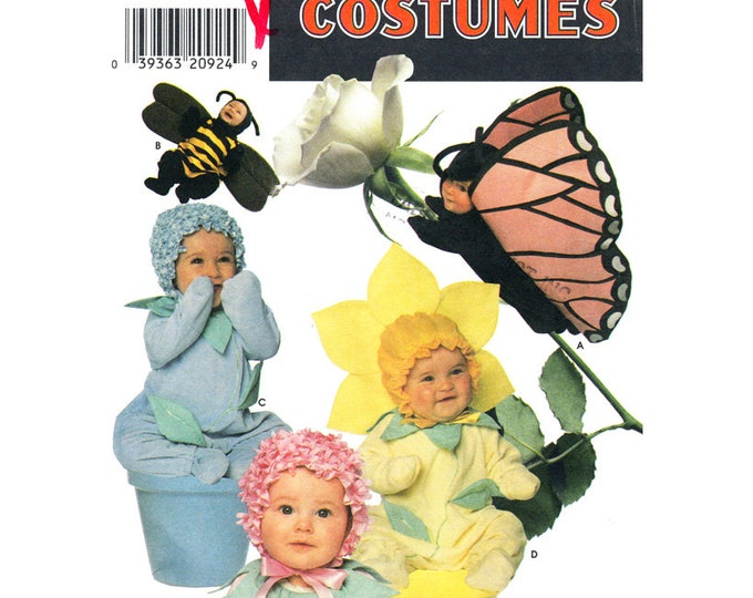 Toddler Costume Pattern Butterfly Bee Flower Simplicity 7868 Photo Prop Size 1/2 to 4