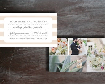 Wedding Photography Business Card Template - Digital Photoshop Templates - INSTANT DOWNLOAD - c0009