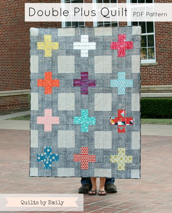 Double Plus - Modern Quilt Pattern - INSTANT DOWNLOAD PDF file