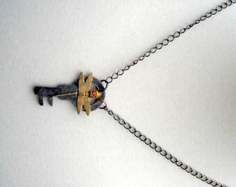Dragonfly Key Necklace Pendant The Dragonfly Whisperer