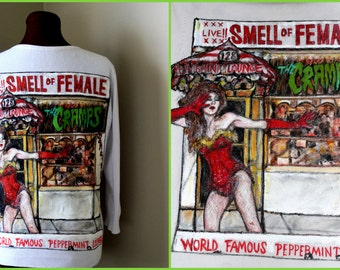 THE CRAMPS -  Hand Painted Cardigan