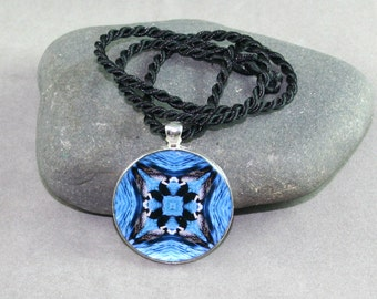 Loon Mandala Pendant Necklace Boho Chic New Age Sacred Geometry Hippie Kaleidoscope Unique Gift For Her Unique Gift For Him Serene Serenade