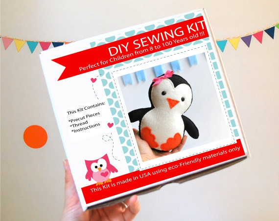 DIY Baby Penguin  Sewing kit, - Sewing Kit   A818 Free Shipping