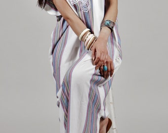 Summer Trendy Clothing White Caftan Kaftan Bedoin-resort,loungewear, as beachwear, birthday gifts, honeymoon gifts, beach cover ups,