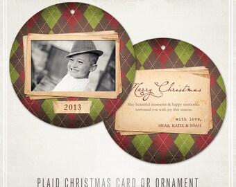 Plaid Christmas Card or Ornament
