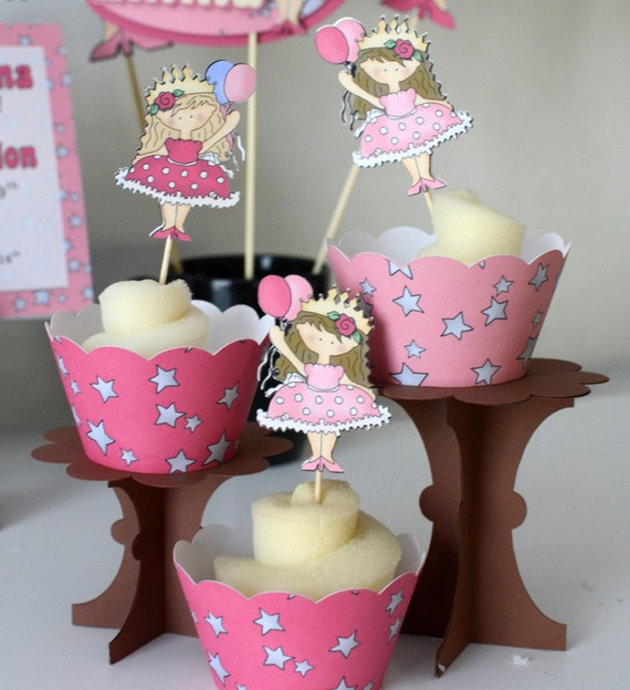 PRINCESS Party CUPCAKE TOPPERS, Princess Party Decorations ...