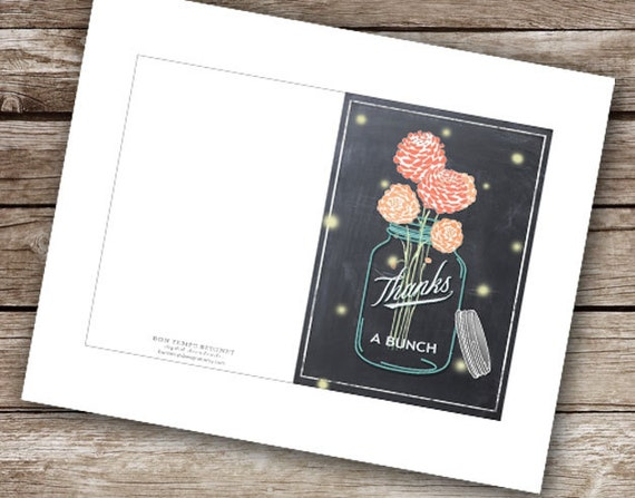 "Printable ""Thanks A Bunch"" Card  - 4x6"""