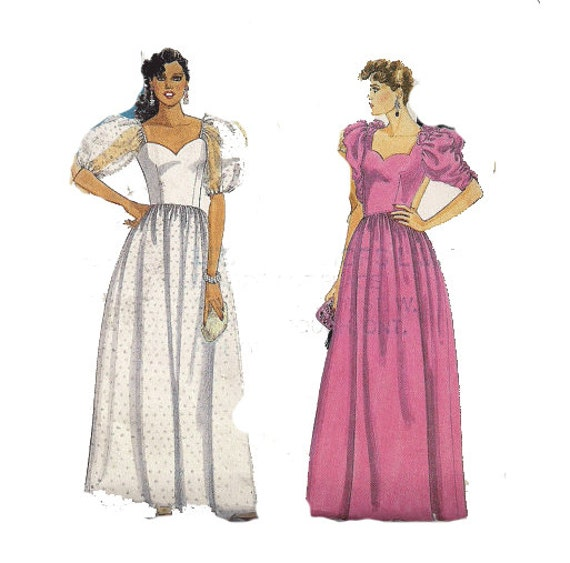 Prom Dress Patterns With Sleeves 80s Prom Dress Pattern