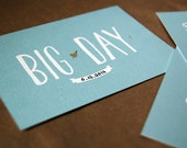 "DIY retro Wedding invitation set / turquoise and brown / vintage engagement invite / rehearsal dinner invite / ""Big Day"""