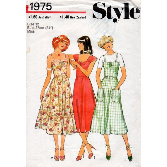 Summer Dresses 70s Style 1975