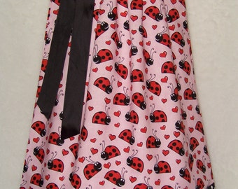 Ladybug Pillowcase Dress / Pink / Red / Black / Cute/ Girly/ Birthday / Newborn / Infant / Baby / Girl / Toddler / Custom Boutique Clothing