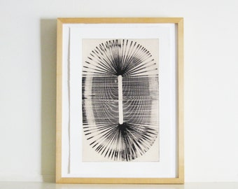 "SUMMER SALE - 40% OFF. use code { EOS40}.Minimalist Print . Etching . Architectural : ""Fossil"" . Print Size 13"" x 19"" . Unframed ."