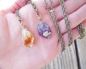 Your choice of citrine or amethyst point
