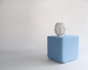 Pouf/ Ottoman / Minimalistic /Blue /Modern Floor Pouf /Additinal Sturdy Seating/ Unique Side table/ Foot Stool /Zigzag Studio Design