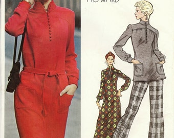 Vintage Vogue Americana Pattern 2767 - Chuck Howard - Misses Dress, Tunic & Pants - size 8