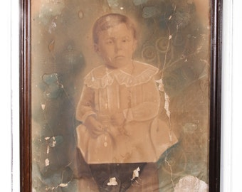 Vintage Portrait / Decor Antique Portrait / Portrait Painting /1900's Portrait / Vintage Photography / Old Painting / Portrait Photography