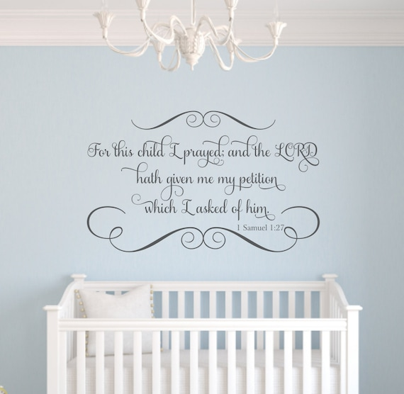 Name wall quote baby nursery wall decals 22 quot h x 36 quot w wa331 on etsy