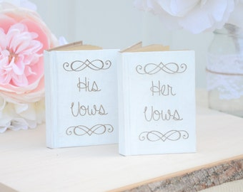 Wedding His and Hers vows notebooks- custom colors
