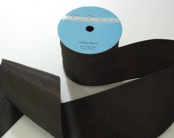 "Ribbon-By Spool-Coffee Color-3 "" (76.2 mm) Wide-3 Yards (2.74m)-9 Feet-Taffeta-100% Polyester-Unused-Casa Collection-Special Occasion"