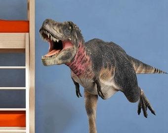 Dinosaur Wall Decal Kid Dinosaur Decal  - Full Color Wall Decal Vinyl Decor Art Sticker Removable Dinosaur decal B125