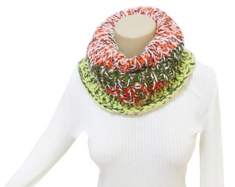 Infinity scarf, Scarf, Knit Capelet, Chunky, Colored, Knit Infinity Scarf, Circle Infinity Scarf, Slouchy Cowl, Chunky Knitted Cowl