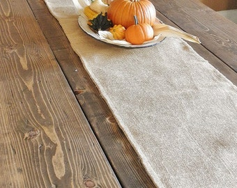 "13"" x 60"" Burlap Table Runner- Reverisble/Double Sided-3 Colors Available- Folk/Rustic/Country-Wedding/Holidays/Christmas-Woodland-Chic"
