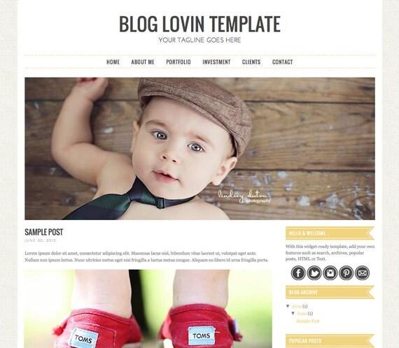 Premade Blogger Template - Bloglovin Template - Blog Template - #bloghappy #bloggertemplate