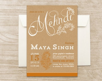 Mehndi invitation | Etsy