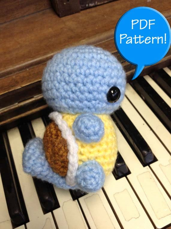 PDF PATTERN for Crochet Squirtle Amigurumi doll by ...