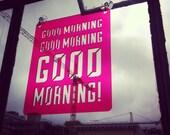 "Transparent ""GOOD MORNING"" Window Word - Typographic Sun Catcher"