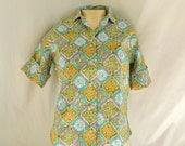 Vintage 50s / 60s Cotton Blouse / Shirt  -- New w/ Tag --  S / M